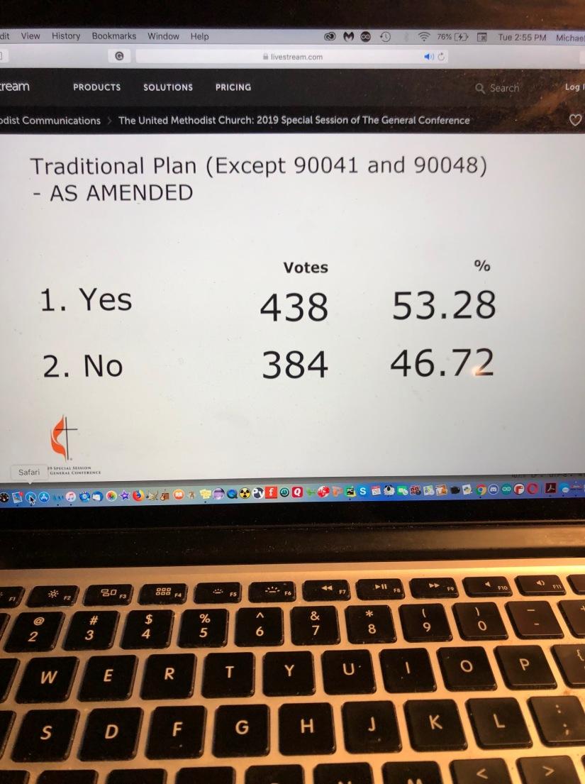 methodist vote