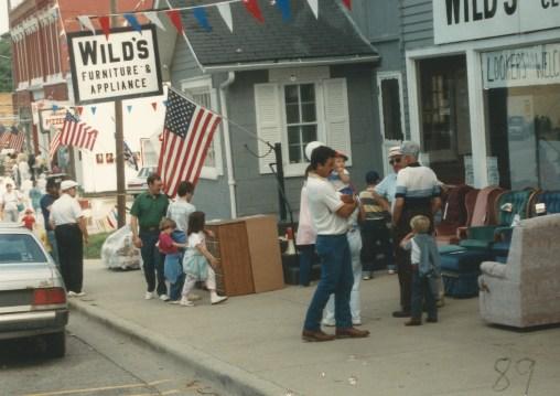 1980s Wild Furn sidewalk sale